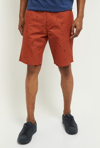 MAX Printed Slim Fit City Shorts