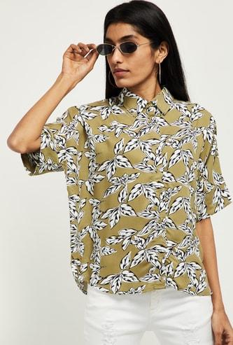 MAX Typographic Print Short Sleeves Shirt
