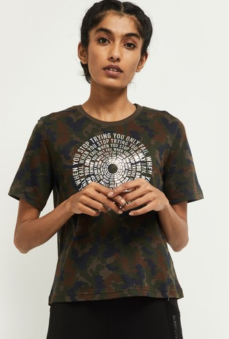 MAX Camouflage Printed Training T-shirt