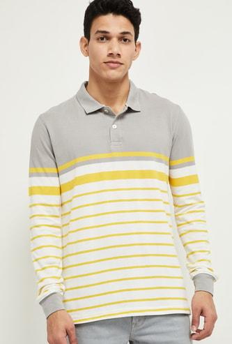 MAX Striped Slim Fit Polo T-shrit