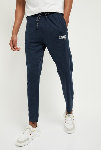 MAX Textured Ankle-Length Track Pants