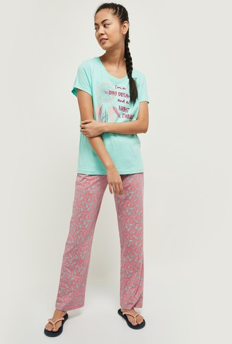 MAX Printed Lounge T-shirt with Pants