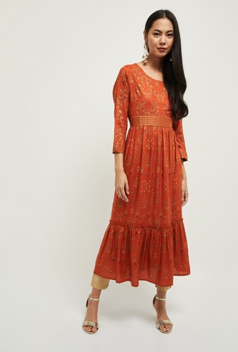 MAX Flared Kurta with Embroidery