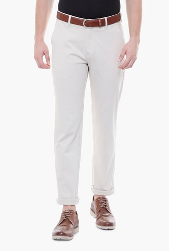 PETER ENGLAND Men Solid Slim Fit Formal Trousers