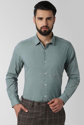 PETER ENGLAND Solid Nuvo Fit Formal Shirt