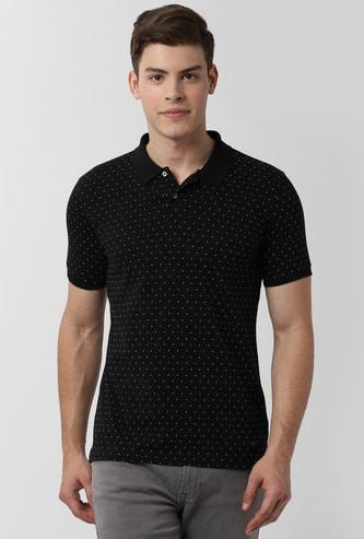 PETER ENGLAND Printed Polo T-shirt