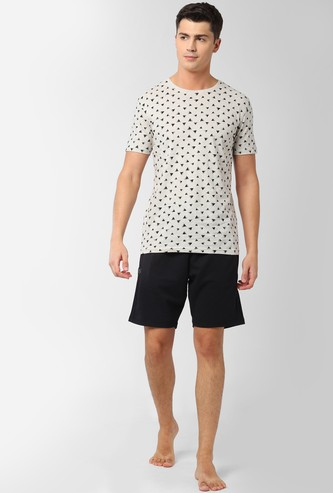 PETER ENGLAND Printed Lounge T-shirt with Shorts