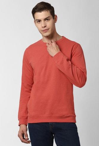 PETER ENGLAND Solid Crew Neck Sweatshirt