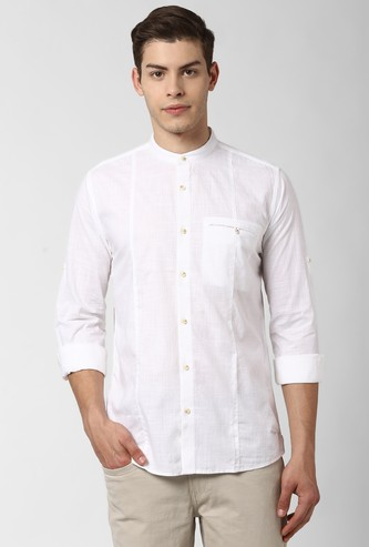 PETER ENGLAND Solid Slim Fit Casual Shirt