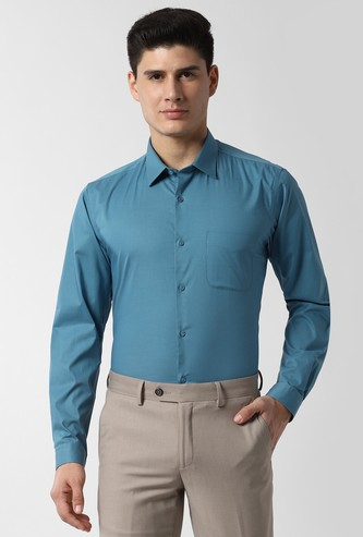 PETER ENGLAND Solid Slim Fit Formal Shirt
