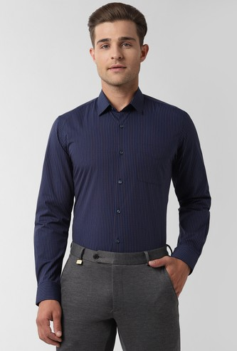 PETER ENGLAND Striped Slim Fit Formal Shirt