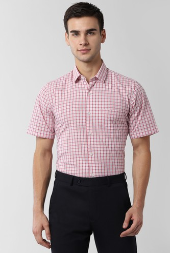 PETER ENGLAND Checked Regular Fit Formal Shirt