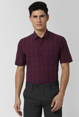 PETER ENGLAND Checked Regular Fit Fromal Shirt