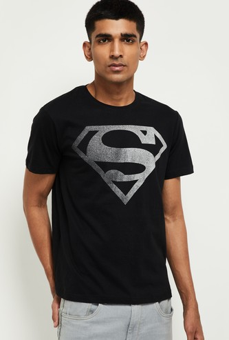 MAX Superman Print Crew-Neck T-shirt