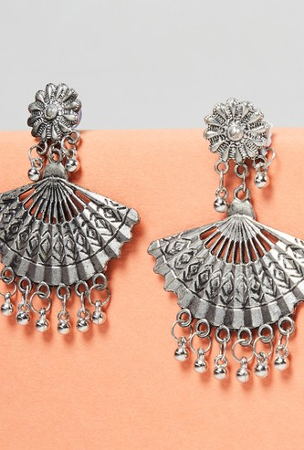 MAX Floral Accent Beaded Drop-Earrings