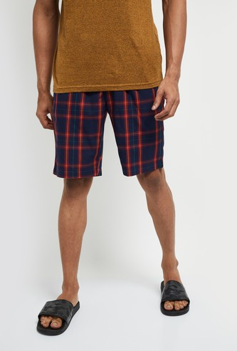 MAX Checked Elasticated Waist Lounge Shorts