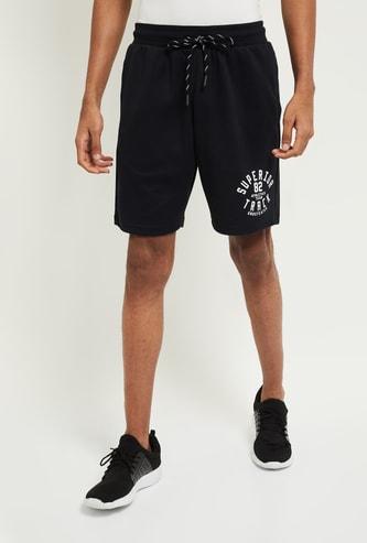 MAX Appliqued Drawstring Waist Shorts