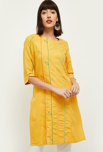 MAX Printed Straight Short Sleeves Kurta