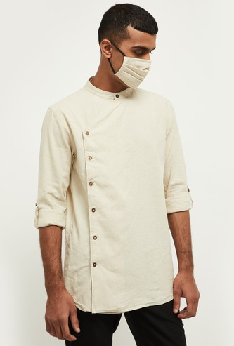 MAX Solid Short Kurta with Mask