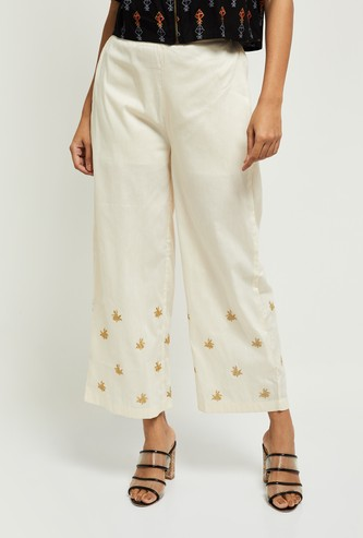 Max Embroidered Elasticated Palazzos