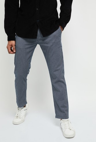 MAX Striped Elasticated Casual Trousers