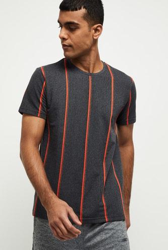 MAX Striped Crew Neck T-shirt