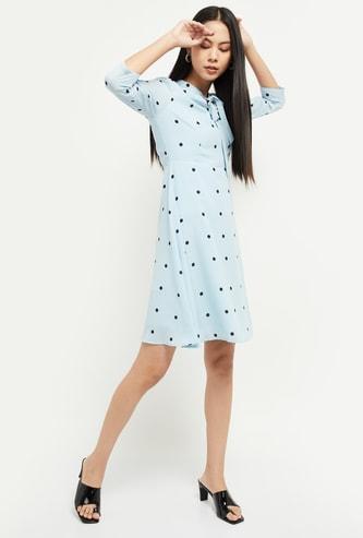 MAX Polka Dot Print A-line Dress