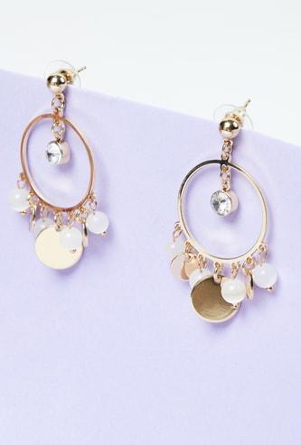 MAX Embellished Drop Hoop Earrings