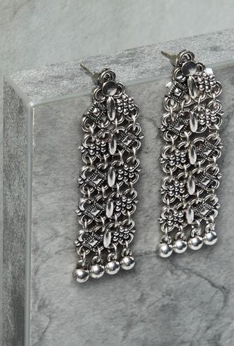 MAX Embossed Metallic Duster Earrings
