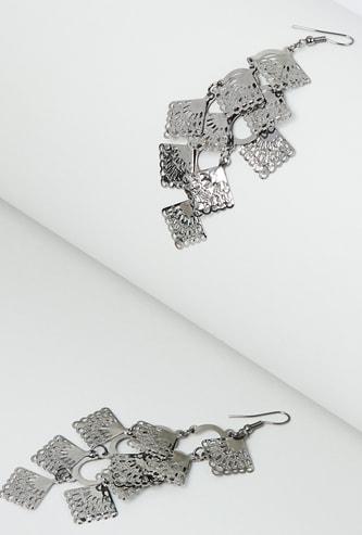MAX Silver-Toned Drop-Earrings