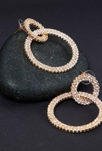 MAX Stone-Embellished Drop-Earrings