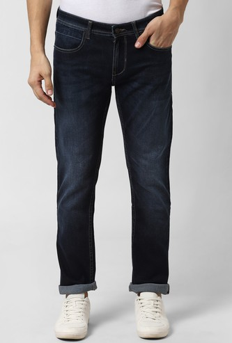 PETER ENGLAND Stonewashed Slim Fit Jeans