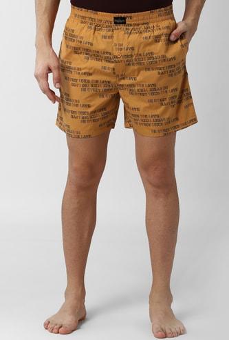 PETER ENGLAND Printed Elasticated Boxer Shorts