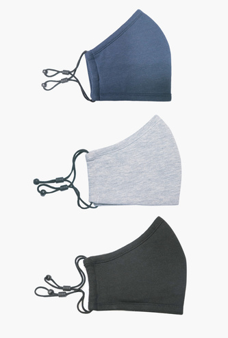 Set of 3 - Assorted Face Mask with Adjustable Straps
