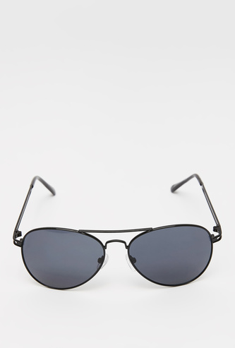 Solid Metal Sunglasses with Nose Pads