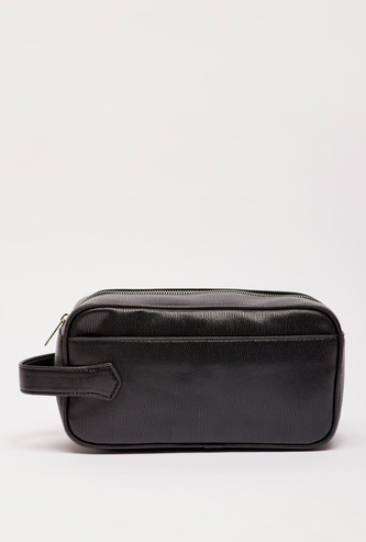 Textured Pouch with Wrist Tag