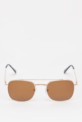 نظارة شمسية معدنية مستطيلة