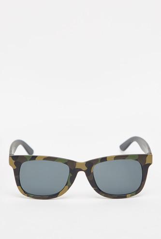 Full Rim Camouflage Print Sunglasses