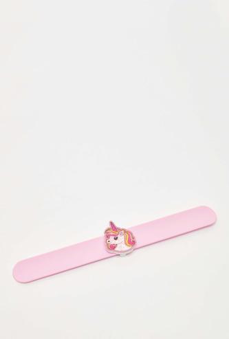 Unicorn Applique Detail Snap Band
