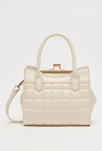 Quilted Crossbody Bag with Double Handles