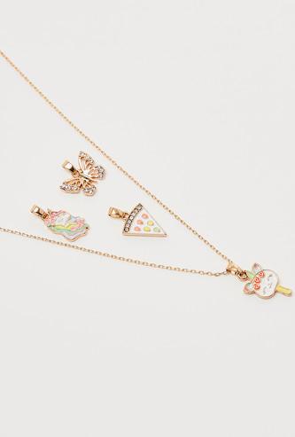 Embellished Detail 4-Piece Pendant Necklace Set