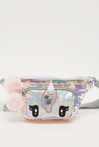 Sequinned Fanny Pack with Adjustable Strap