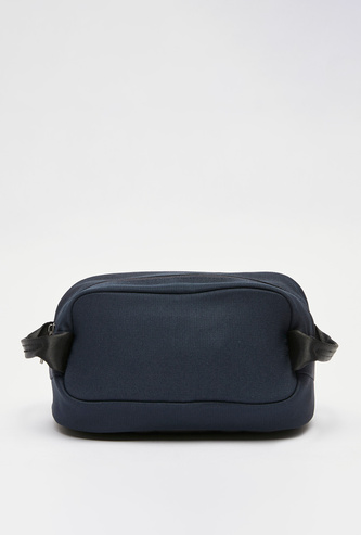 Solid Pouch with Zip Closure and Side Handle