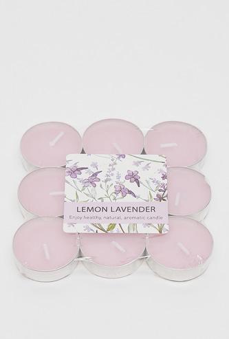 Set of 9 - Lemon Lavender Fragrance Tealight Candle