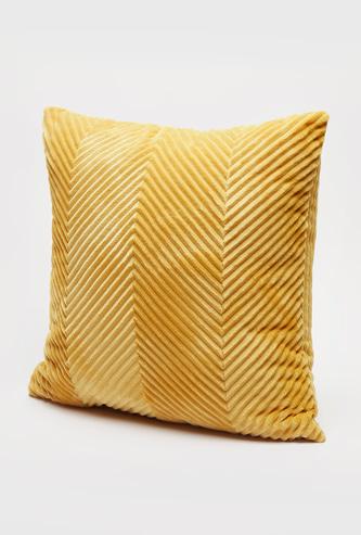 Chevron Textured Filled Cushion - 45x45 cms
