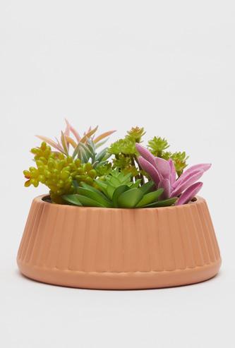 Artificial Succulent Plants with Pot - 18.3x18.3x13 cms