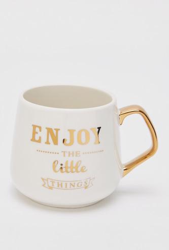Slogan Print Mug with Handle