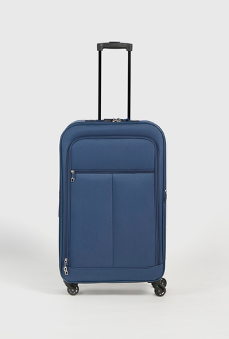 Solid Soft Suitcase with Retractable Handle and Wheels