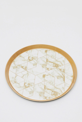 Printed Round Serving Tray - 35 cms