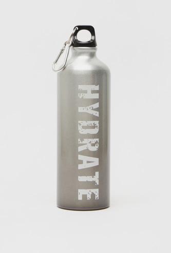 زجاجة مياه ألومنيوم بطبعات نصية - 750 مل